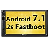 Pumpkin Android 7.1 Autoradio 2 Din GPS Ecran tactile 7 Pouces Fast Boot 2s supporte Bluetooth Wifi 4G USB SD Commande au Volant RDS Radio OBD2 DAB+