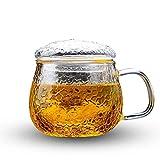 TEAHOM Glastasse Mark Cup Mit Deckel Handarbeit China Kristall Hitzebeständige Verdickte Trennungsschale Filter Büro