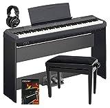 Yamaha P-115B Stage Piano SET inkl. Ständer, Pedaleinheit, Kopfhörer, Bank, Schule (88 gewichtete Tasten, Begleitstyles, Rhytm-Funktion, inkl. Notenhalter, Pedal, Netzadapter, Stativ, Noten) schwarz
