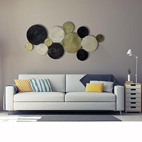 inhouse Extra Großen Kreisen Metall Wand aufhängen und dekorativ Wand Kunst Skulpturen - Kreise-wand-skulptur