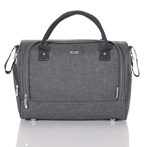 LCP Kids 668 Baby Changing Bag SYDNEY grey Diaper with carry handle, waterproof mat and universal fixing for strollers