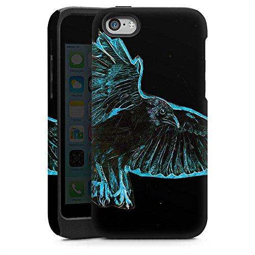 Apple iPhone 6 Housse Étui Silicone Coque Protection Corbeau Oiseau Nuit Cas Tough brillant