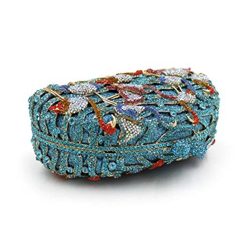 Frauen-High-End-Abendtasche Diamant-Handtasche Blue