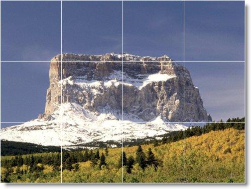 MOUNTAIN CUADRO COCINA TILE MURAL M035  24 X 81 28 CM CON (12) 8 X 8 AZULEJOS DE CERAMICA