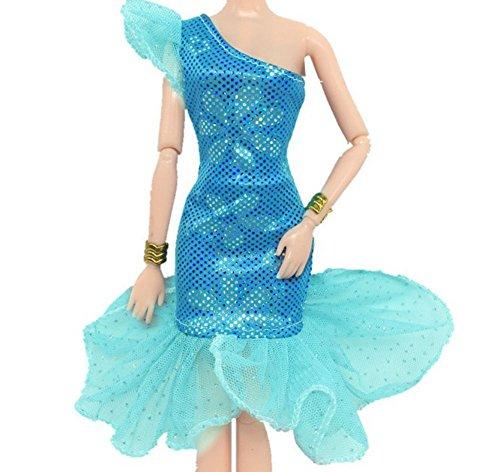 """Moda bella fatto a mano Vestito da sposa per 11.5 """"barbie Doll/Vestito di Doll (7)"""