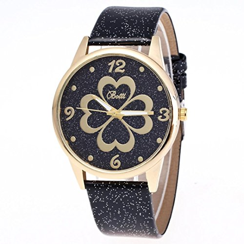 harrystore-womens-leather-quartz-dress-heart-shaped-wrist-watch-black