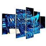 islandburner Bild Bilder auf Leinwand DJ Spielt die Strecke im Nachtclub auf Einer Party Wandbild, Poster, Leinwandbild EHH