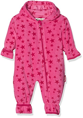 Playshoes Unisex Baby Schneeanzug Fleece-Overall Sterne Rosa (Pink 18) 80