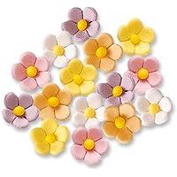 90 Fiori di zucchero, piccoli, colorati
