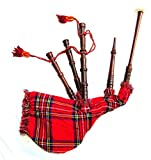 Scozzese Junior Playable Bagpipes Kids Toy Miniature Tartan Bag & Rosewood Pipes Royal Stewart Taglia Unica