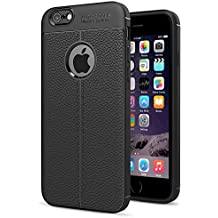 Funda Iphone 6 Iphone 6s, Simpeak Apple Iphone 6 Carcasas Iphone 6 funda de Cuero PU cases Suave TPU(4,7 Pulgadas), Negro