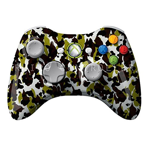 XBOX 360 Wireless Controller Glossy WTP-102-Camo-Lime-Black-Brown Brugerdefineret Painted- Uden Mods - Wireless Xbox Camo 360 Controller