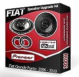 Pioneer Vordertür-Lautsprecher für Fiat Grande Punto, Auto-Lautsprecher mit Adapterringen, 240W