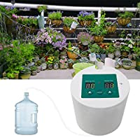 Auto Drip Irrigation Kit TEEPAO Houseplants Automatic Plant Watering System With 15-Day Digital Programmable Water Timer For Deck, Patio, Garden, Self Watering Stakes For 10 Indoor Potted Plants