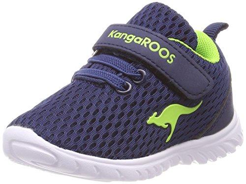 KangaROOS Unisex Baby Inlite 5003 Sneaker, Blau (Navy/Lime 4800), 23 EU