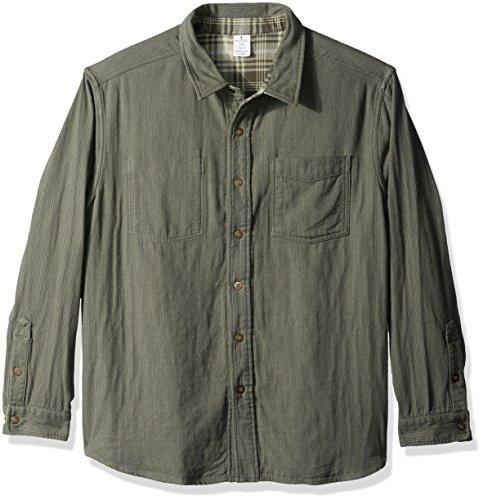 Royal Robbins doppelt Rückseite Oberhemd Medium Bayleaf (Grün-reversibel-t-shirt)