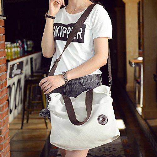 BYD - Damen Bag Schultertaschen Mutil Function Bag Crossbody Bag Tote Handtaschen Weiß