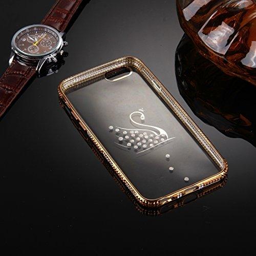 Wkae Case Cover Für iPhone 6 &6s Diamant verkrustete Muster Galvanotechnik Feld TPU-Schutzhülle ( SKU : IP6G1860A ) IP6G1860C