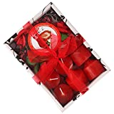 #3: HOKIPO® Gift Set of 6 Sweet Scented Candles with Holder (Strawberry Fragrance)