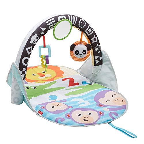 Fisher-Price Tapis d'éveil des animaux 2-en-1 pour bébé, avec arche réversible et jouets amovibles, dès la naissance, FXC14
