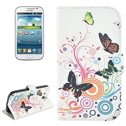 Schützen Sie Ihr Mobiltelefon Blumenmuster Flip Leder Tasche mit Halter & CardSlots für Samsung Galaxy Grand Duos / i9082, Neo Plus / i9060 für Samsung Handy ( SKU : S-SCS-4030M ) (Samsung S 1 Fälle Galaxy)