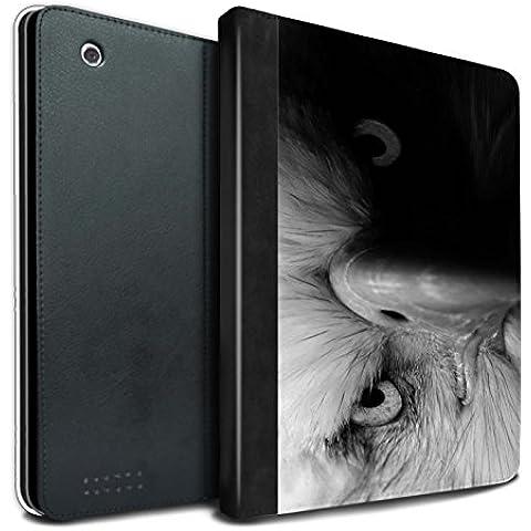 Stuff4 PU Cuero Funda/Carcasa/Folio Libro en Para el Apple iPad 2/3/4 tablet / serie: Animales de zoológico mono - Águila/ave de