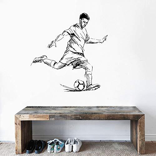 JXWR 41x57 cm fußball Junge Ball Kick wandaufkleber Aufkleber Junge Zimmer wanddekoration