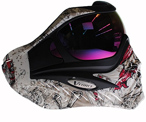 V-Force Grill Paintball Maske/Goggle–Limited Edition–Jolly Roger -