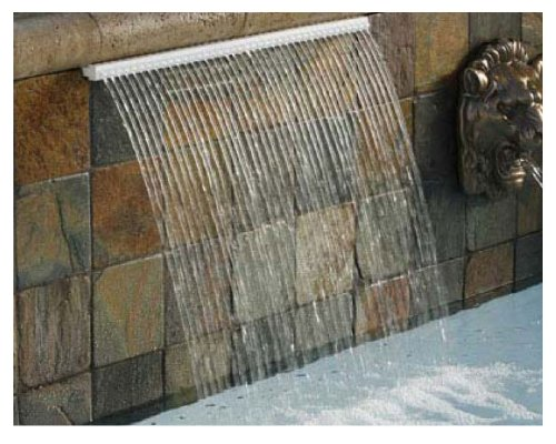 Pentair Water Pool Spa (Pentair 581402FRZ Magicfalls Water Effect Super Lip Series Waterfall Rain, 33 cm, Bronze, 61 cm)