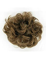 chouchou cheveux châtain clair doré ref: 17 en 12