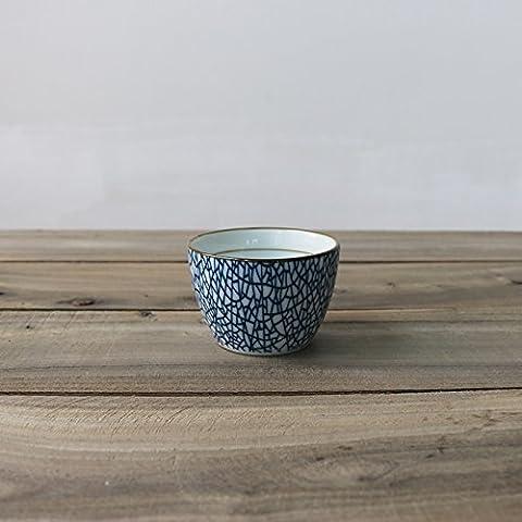 Alercong une petite Bol de soupe Riz cuits à la vapeur Retro Bol en Céramique sous Glaze Bol Hand-pulled nouilles Bol à petit déjeuner Saladier Ice crack (water cup)