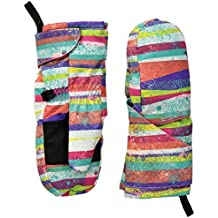 Spyder Bitsy Cubby guantes, niña, color Multi Splatter Print, tamaño L