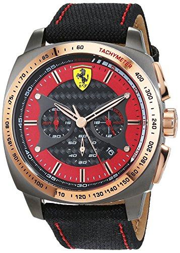 Scuderia Ferrari Orologio Analogico Classico Quarzo Uomo con Cinturino in...