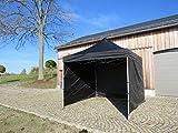 EZSPORT CO Hochwertiger Profi-Faltpavillon, wasserdicht, mit 3 Seitenteilen, 3x3m,PVC-Dach