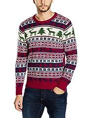 Idea Regalo - NIZZIN Elm, Felpa di Natale Unisex, Rosso (Red), Large