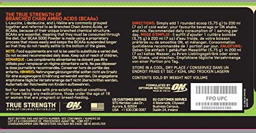 Optimum Nutrition Instantized BCAA 5000 Powder, 1er Pack (1 x 345 g) - 2