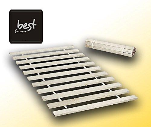 Best For You Rollrost aus 10,15 oder 20 massiven stabilen Holzlatten Geeignet für alle Matratzen - in 2 Grössen 90x200 cm und 140x200 cm (90x200-10 - für Kinder)