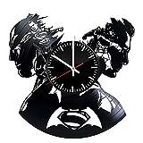 Welcome Everyday Arts DC Comics Horloge Murale en Vinyle Inscription Batman Superman