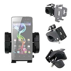 Support 360° vélo compatible avec Smartphones Archos 59 Xenon, 62 Xenon, 45b Helium 4G, 50b ou c Helium – 4 en 1 sur guidon, grille d'aération ou pare-brise - Par DURAGADGET