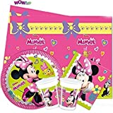 Wow Disney Minnie Maus komplett Partygeschirr Pack für 16
