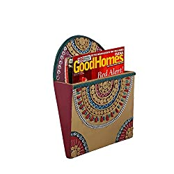 999Store Hand Painted Multicolor Box Wooden Wall Hanging Magazine Stand Document Holder Magazine Racks Paper Organizer Storage Box