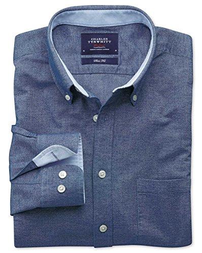 Slim Fit Oxfordhemd in jeansblau jeansblau (Knopfmanschetten Cuff)