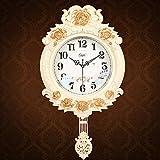 Retro swing despertador creativo moda reloj reloj de cuarzo de la sala de estar dormitorio MUTE,Un