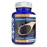 Aktivkohle 300 mg | 180 Kapseln (keine Tabletten) | Dreifache Stärke von Zipvit