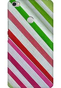 AMEZ designer printed 3d premium high quality back case cover for Xiaomi Mi Max (Texture fabric strip)