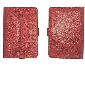 Jo Jo G5 Bling Flip Flap Case Cover Pouch Carry For Prestigio Multipad 7.0 Prime Red