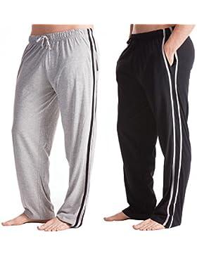 Pantalón largo de pijama para hombre, pack de 2
