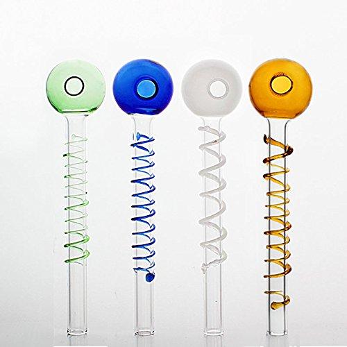 Dalong tubi di vetro olio utensile per fumatori Handmade 5PCS colorato