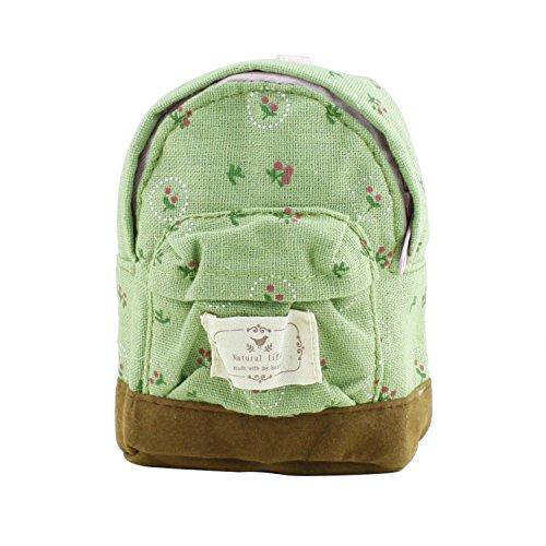 Portafoglio donna borsa zaino Fiore Coin Portafoglio mano Pouch Blue Green