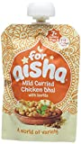 For Aisha Mild Curried Chicken Dhal with Lentils 130 g (Pack of 6)